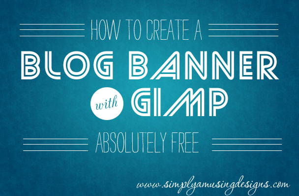 How to Add a blog banner for gimp