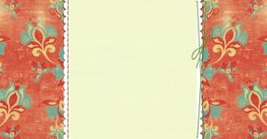 Citrus Floral Free Three-Column Blogger Background