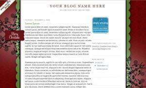 Free Blogger Holiday Background