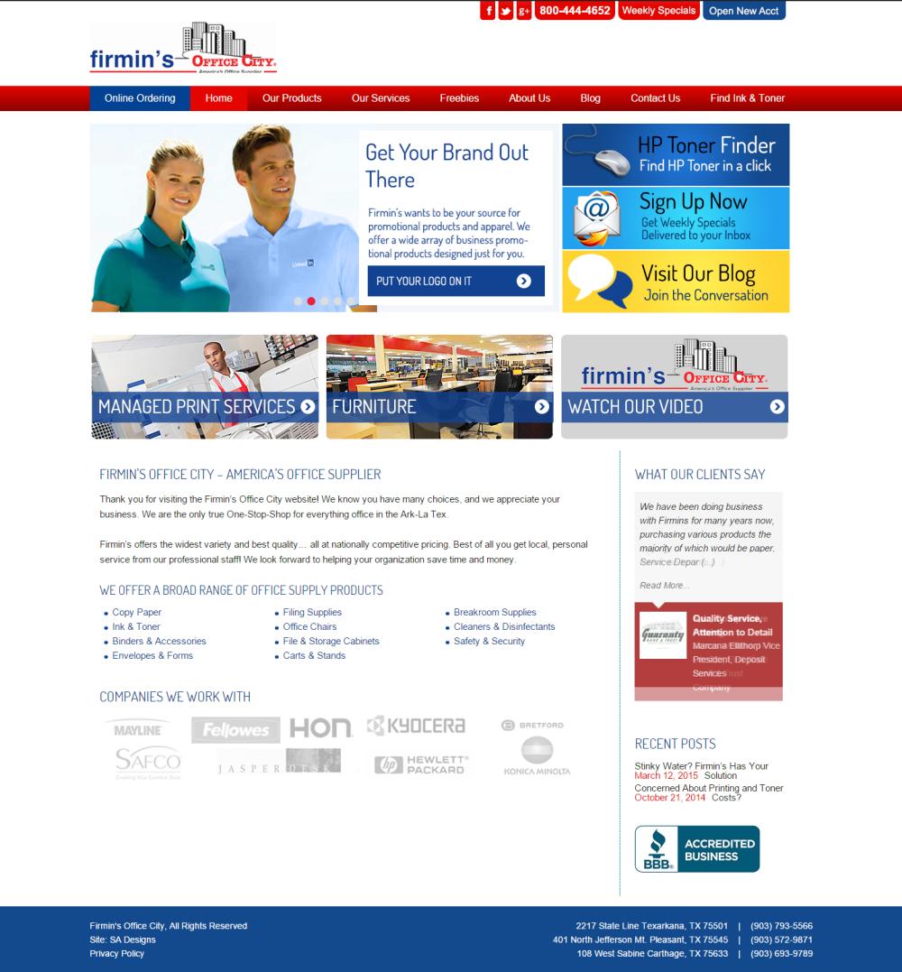 Firmin's Office City WordPress Genesis Website Designed by SA Designs