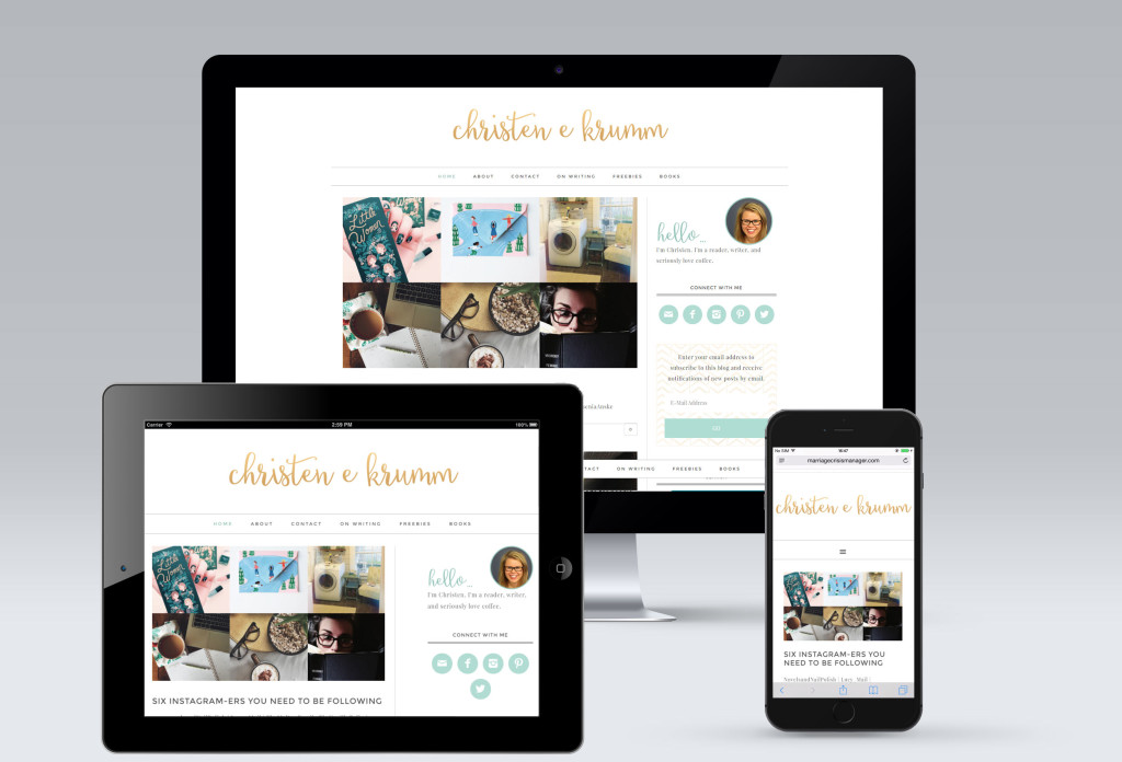 Christen Krumm Blog Redesign